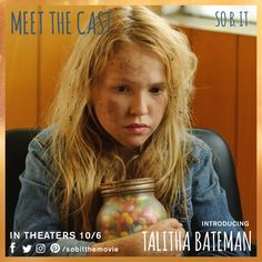"""""""I'm not psychic. It isn't anything fancy like ESP. I'm just lucky."""" Introducing Talitha Bateman as Heidi. #meetthecast #sobit"""