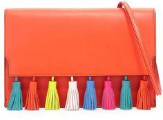 Rebecca Minkoff Tassel Clutch Bag, Poppy Red