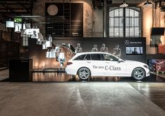 Design by Konform. Car Expo, New C Class, Gunma, Renz, Exhibition Booth Design, Showroom Design, Space Images, Commercial Design, Mercedes Benz