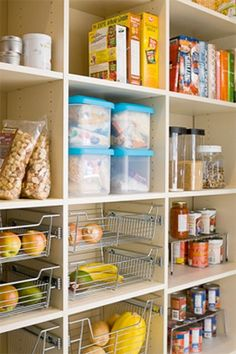 Pantry: Adding drawers for fruits and veggies. Good idea!