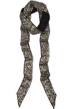 Isabel Marant|Pulse sequined silk scarf |NET-A-PORTER.COM
