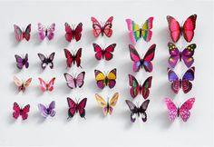 Lekre sommerfuglmagneter i 3 forskjellige størrelser, selges i 5 pk Office Supplies
