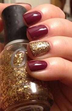 marsala & gold