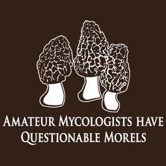 Questionable Morels Sticker