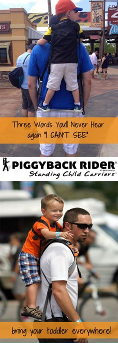 Enter to WIN a Piggyback Rider for your family until Nov. 18, 2015. The best thing for your toddler ages 2-7 years old. When you're on mile 3, this will save your life!
