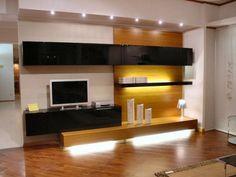 meuble télé design en noir