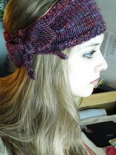 Bow headband knitting pattern. Easy.
