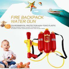 Venta CALIENTE de Los Cabritos Al Aire Libre Lindo Super Soaker Blaster Fuego Mochila Piscina de agua A Presión de Juguete Pistola de Agua de Playa de Verano Para Niños Juegos