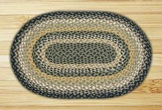 Braided Black/Mustard Area Rug