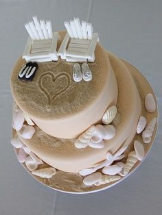 beach themed wedding cakes | beach wedding simple beach themed weding cake top tier rich fruit … | best stuff