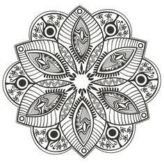 coloring-page-mandala-Original-Flower-by-markovka, From the gallery : Mandalas