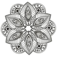 coloring-page-mandala-Original-Flower-by-markovka, From the gallery : Mandalas