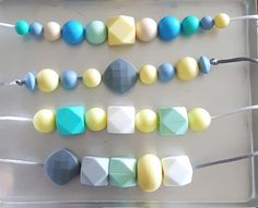 Silicone Teething Nursing Necklace  - chewable jewelry for moms to wear, but baby safe