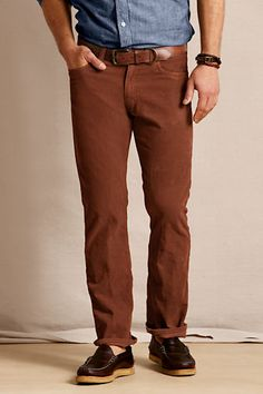 Men's 5-pocket Straight Fit Cords from Lands' End Canvas