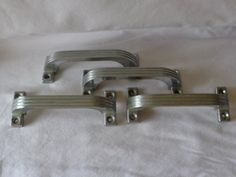 Hoosier Pantry Cabinet Chrome Ribbed Drawer Pulls by MemmoryAlley, $25.00