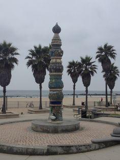 Totem pole and palms at Venice