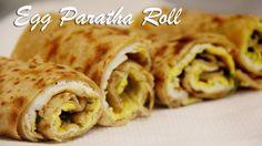 Breakfast Recipes Egg Paratha Roll Recipe Egg Wraps Recipe for Breakfast Egg Recipes For Kids, Healthy Indian Recipes, Egg Roll Recipes, Egg Recipes For Breakfast, Wrap Recipes, Roast Recipes, Yummy Recipes, School Lunch Recipes, Lunch Box Recipes