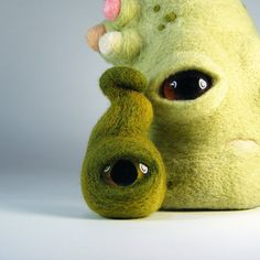 needle felted 'eye pod' and night light by Kit Lane on Flickr
