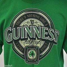 """""""Nothing Like A Guinness"""" Shamrock T-shirt Large /XL by Most Extra Stout Green"""