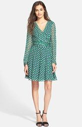 Diane von Furstenberg 'Ashlynn' Cube Print Silk Dress