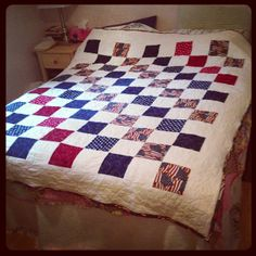 Star Spangled American Flag Squares quilt.  Love this quilt and fabrics.  Peace, Robert from nancysfabrics.com
