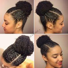 Pelo Natural, Natural Hair Updo, Natural Hair Growth, Protective Hairstyles For Natural Hair, Girl Hairstyles, Braided Hairstyles, Simple Hairstyles, Dreadlock Hairstyles, Black Hairstyles