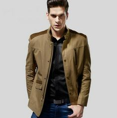 $188.19  #MensJacketsCoats Men's Business Casual Warm Jacket Discount Online Shopping
