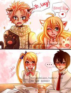 Zervis x Nalu; the childish (Natsu and Mavis) and the studious (Lucy and Zeref)