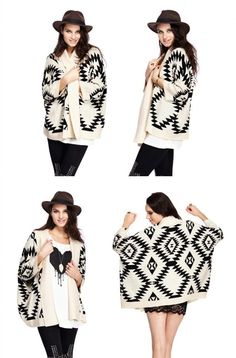 Chunky Tribal Cardigan