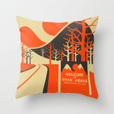 Decorative Pillow Cover TWIN PEAKS throw pillow by JazzberryBlue, $24.00