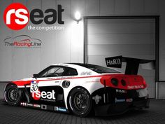 The Racing Line et la rSeat pour Jimmy Dion! - The Racing Line Nissan Gt R, Sport Cars, Race Cars, Vehicle Signage, Automobile, Car Tuning, Japanese Cars, Car Painting, Nissan Skyline