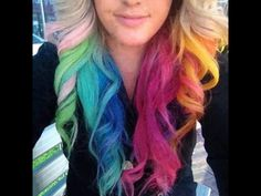 Multi coloured dip dye!