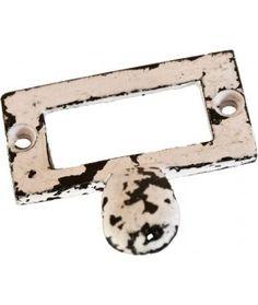 Uchwyt metalowy Loft biały