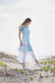 Zephyr Dress at Beach