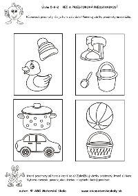 Rôznorodé predmety - Rozprávame a dopĺňame slovnú zásobu, rozvíjame reč a priestorovú predstavivosť