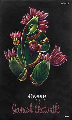 Happy Ganesh Chaturthi Lord Ganesha Flower Art Image Ganesh Chaturthi Greetings, Happy Ganesh Chaturthi Wishes, Ganesh Chaturthi Images, Sri Ganesh, Ganesha Art, Lord Ganesha, Flower Art Images, Diwali Pooja, Hanuman
