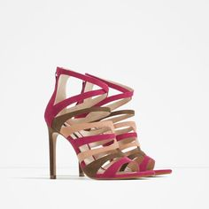 Image 2 of HIGH HEEL STRAPPY SANDALS from Zara