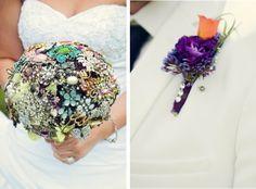 DIY Project: Broach Wedding Bouquet