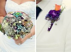 DIY Project: Broach Wedding Bouquet