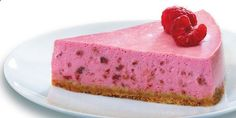 Add summertime flavor to your favorite creamy dessert by using frozen raspberries! Make this simple  colorful Raspberry Cheesecake Supreme!