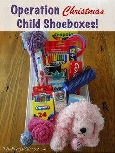 Operation Christmas Child Shoeboxes! ~ at TheFrugalGirls.com - fun ideas and creative tips for packing your shoe boxes! #thefrugalgirls