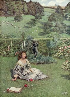"""Eleanor Fortescue Brickdale. """"The Book of old English songs and ballads"""" 1915 (18) """"The Rose""""  William Browne"""
