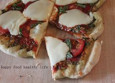 Grilled Margherita Pizza- this looks so fresh and good!