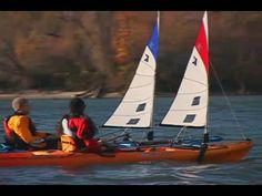 Kayak sailing Text