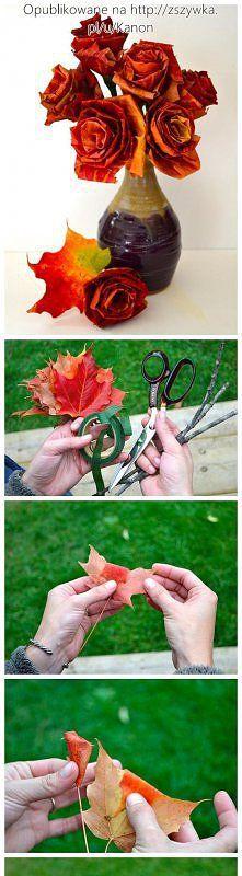 Jak zrobić różyczki z liści.