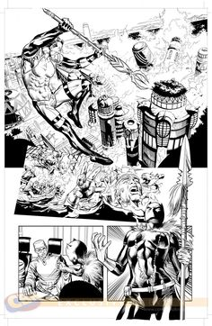 New Avengers #7. Art by Mike Deodato.