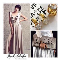 #Look del día  Una hermosa y elegante combinación de #DiseñoVenezolano . Vestido: @ninasanchezve Joyas: @vfelizola Cartera: @barbacanecarteras . #lookoftheday #ootd #outfit #tendencias #fashion #talentovenezolano #MModaVenezuela