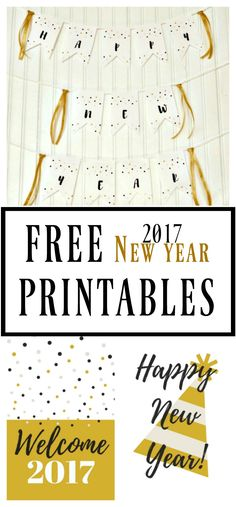 free new year printables happy new year 2017