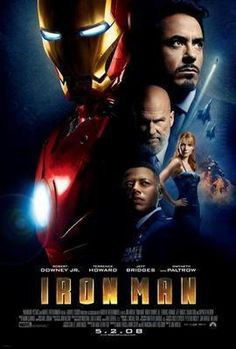 Ironman Movie poster Metal Sign Wall Art 8in x 12in