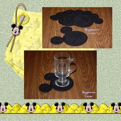 Crocheted Mickey Mouse Coasters